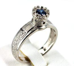 Помолвочное кольцо «Башня»