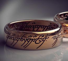 Золотое «Кольцо всевластия», из Властелина Колец