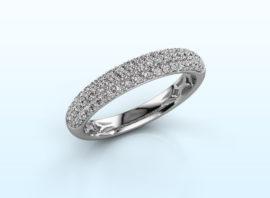 Ring Emely 2 585 white gold Diamond 0.557 crt