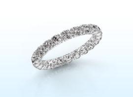 ring vivienne 2.7 585 white gold Diamond 1.68 crt