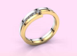 Ring Cato 585 white gold Diamond 0.125 crt