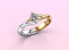ring paulien 585 gold Diamond 0.30 crt