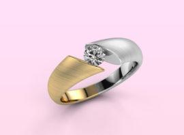 ring hojalien 1 585 gold Diamond 0.30 crt