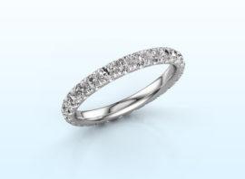 ring jackie 2.3 585 white gold Diamond 1.25 crt