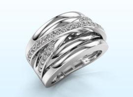 Ring Clair 3 585 white gold Diamond 0.495 crt