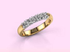 ring rianne 5 585 gold Diamond 0.40 crt