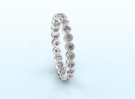 ring mariam 0.03 585 white gold Diamond 0.69 crt