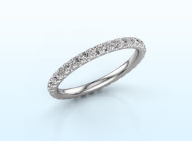 stackable ring jackie 1.7 585 white gold Diamond 0.66 crt