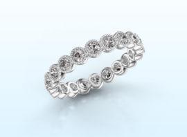 ring mariam 0.05 585 white gold Diamond 1.10 crt